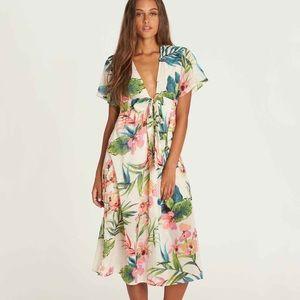 Rolling Seas Tie Front Billabong Dress